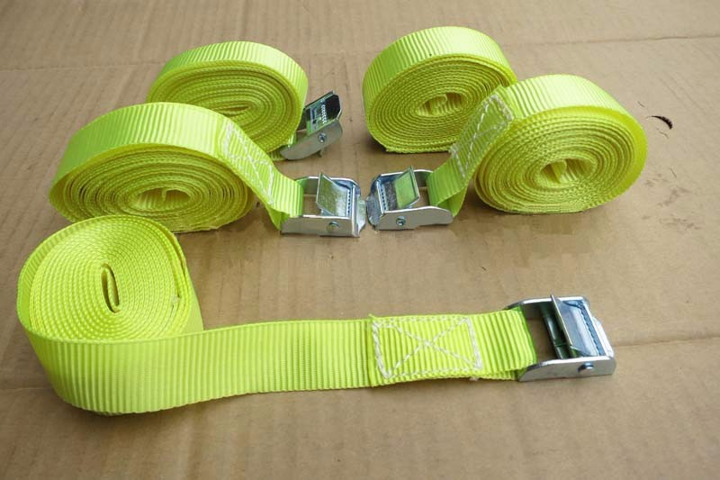 Free shipping 40pcs/lot 25mm 250kgx10M metal cam buckle tie down luggage load strap cargo lashing belt for car and truck(China (Mainland))