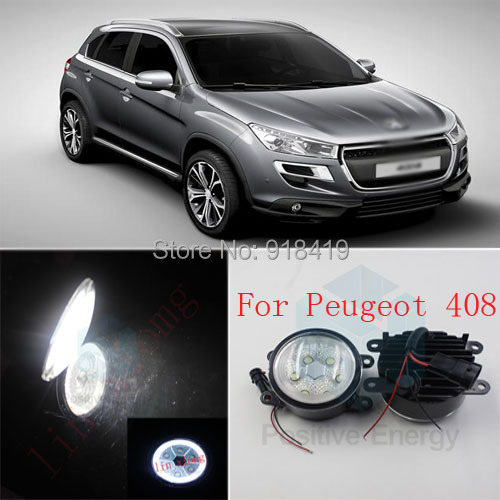 auto accessories High-power LED angel eyes fog 2pcs18W front fog lights car styling parking For Peugeot 408<br><br>Aliexpress