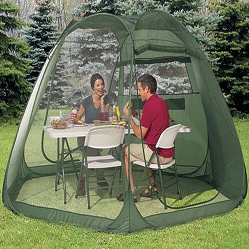 Outdoor tourism quick opening  big tent  beach tent  automatic tent  gauze shade tent   5-10 persons