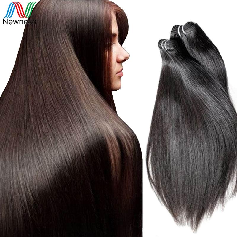 Newness Sale Factory Supplier 7A Brazilian Straight Virgin Hair Weft 100% Silky Human Hair 3 Bundles/lot Hair Extension(China (Mainland))