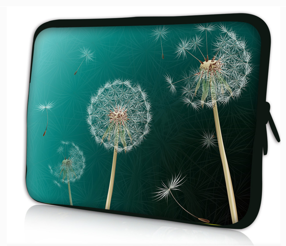"""Gray Dandelion 13"""" 13.1"""" 13.3"""" Laptop Soft Sleeve Case Bag For Lenovo/Dell/HP/Asus notebook computer sleeve Cover Pouch(China (Mainland))"""