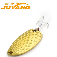 GT BIO New pesca metal spoon lures pesca spinner bait 10g 15g Golden & Silver