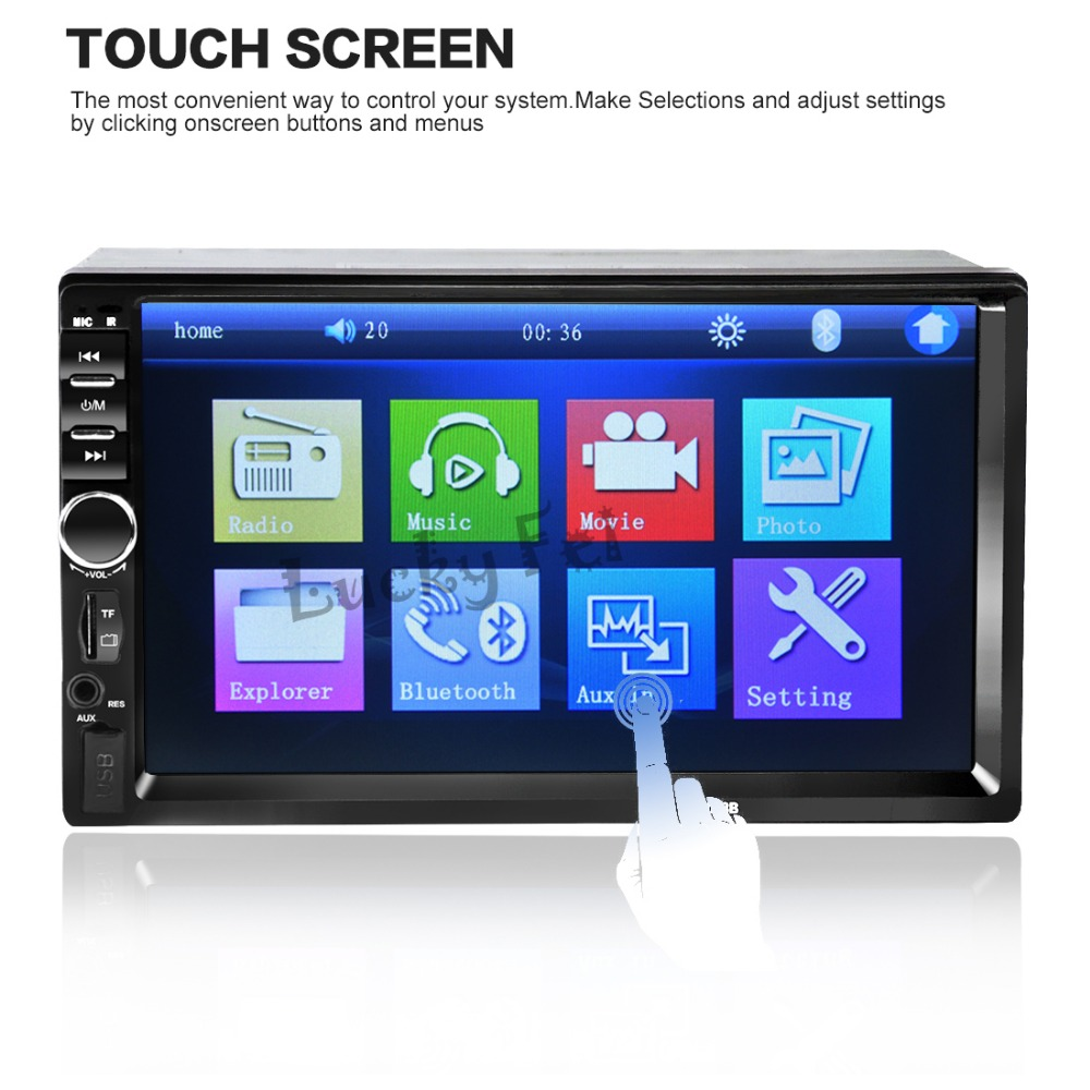 2 Din Car Video Player 7'' HD Touch Screen 1080P Bluetooth Stereo Radio FM/SD/MP4/MP5/Audio/USB/TF Auto Electronics In Dash(China (Mainland))