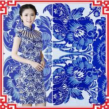 Buy 100*75cm Blue White Porcelain style Silk Metallic Jacquard Brocade Fabric,3D jacquard yarn dyed fabric Women's Dress for $16.04 in AliExpress store