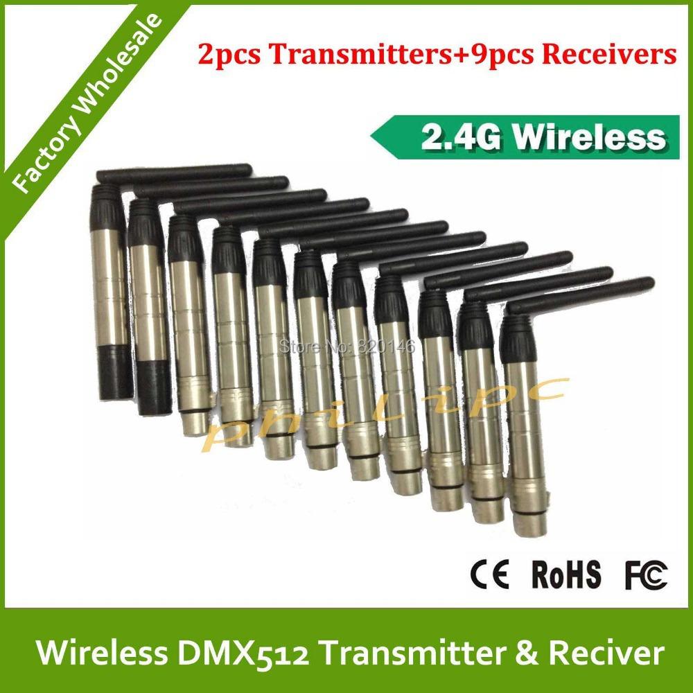 DHL Free Shipping 2.4Ghz wireless DMX transmitters DMX512 wireless receiver DMX wireless controller(China (Mainland))