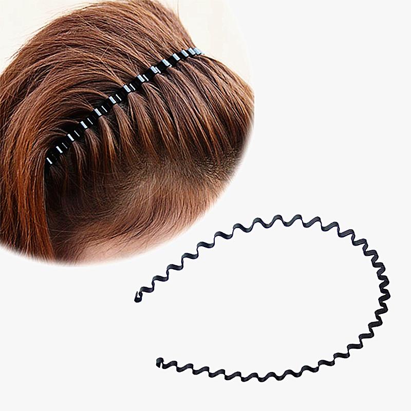 2 pcs Metal wave headband Invisible head hoop Stars wear spring wavy hair band invisible Wave cornrow Hairstyle Hair accessories(China (Mainland))
