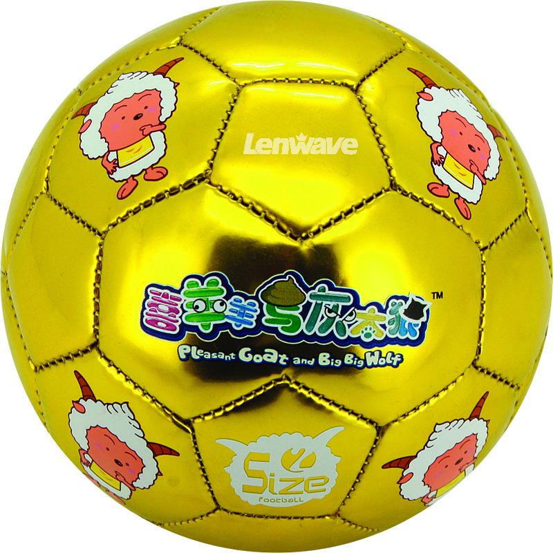 Children's Size 2 # PU Football ball Hot Sales Plesant Goat and Big Big Wolf Foaming Soccer Ball For Kids(China (Mainland))