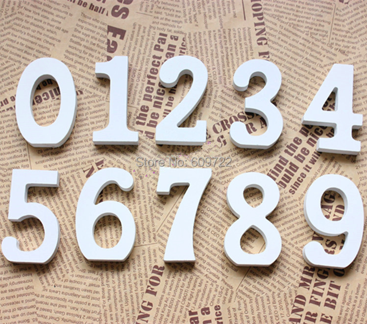 New Year 11pcs 1-10 Wedding Home Furnicture Decoration Candy Bar Wooden Standing Words Table Numbers letras White FL1548(China (Mainland))