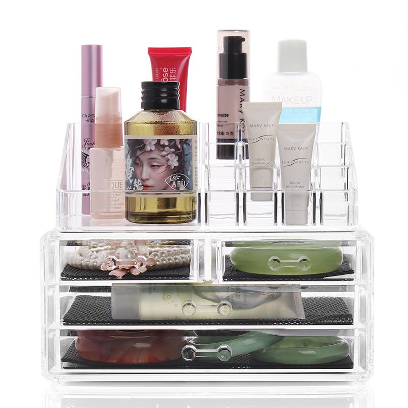 HomCom Acrylic Makeup and Jewelry Storage Case - Clear beautify cosmetic box(China (Mainland))