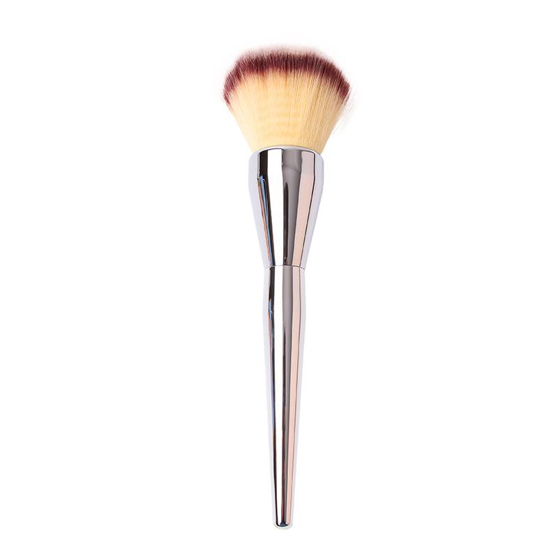 Wholesale 10pcs/lot Large Powder Brush Blush Foundation Round Make Up Tool Big Cosmetics Aluminum Brushes Soft Face Makeup(China (Mainland))