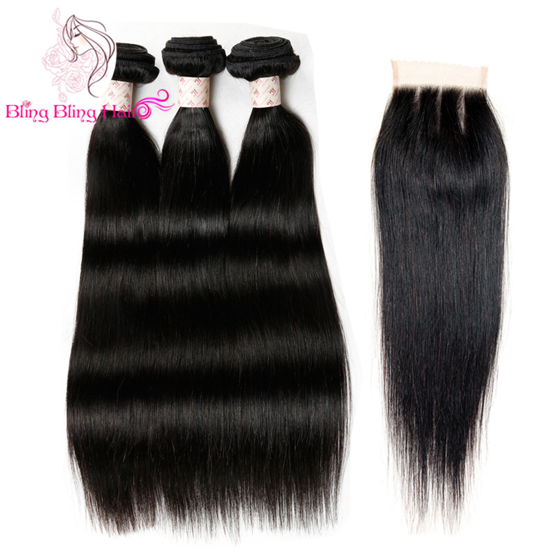 7a Mink Unprocessed Virgin Human Brazilian Hair With Closure Straight Hair With Closure Grace Hair Company Bundles With Closure<br><br>Aliexpress