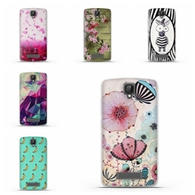 New 3D Relief Case for ZTE Blade L5 Plus Print Lotus Child Ultrathin Silion Soft TPU Back Case Cover For ZTE L5 / L5 Plus Bags(China (Mainland))