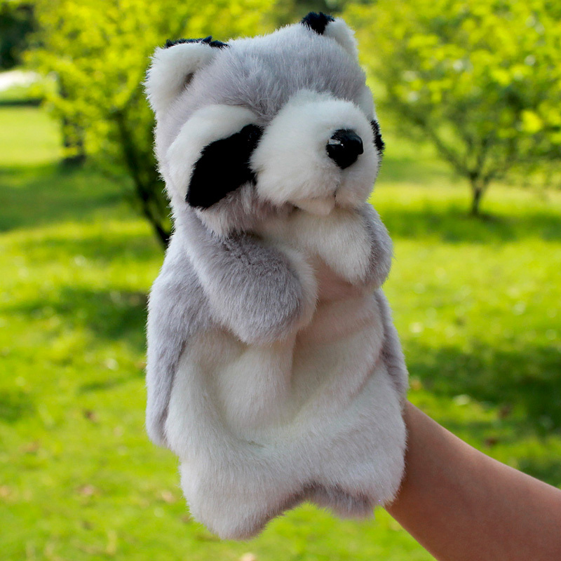 Cute Big Plush Coon Hand Puppets For Kids Toy Story Glove Dolls Link King Rabbit Wolf Sheep Bear Dog More Kinds Option On Sale(China (Mainland))