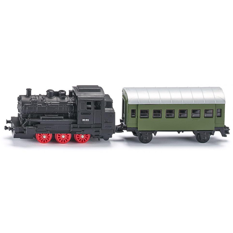 siku 1657 Steam engine with passenger carriage alloy metal model car toy gift collection free shipping(China (Mainland))