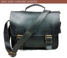 Синий DORFF старинные crazy-лошадь кожаный портфель ручка мужчины сумки из натуральной кожи мужчины сумка мужские деловые сумки 6007