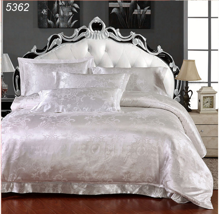 Royal luxury bedding sets satin silk duvet cover queen size bed linens king satin bedspread cotton sheet 5362(China (Mainland))