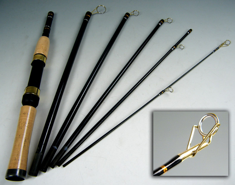1X 1.8m 5 Section Portable Travel Fishing Rod Spinning Rods Carbon Fiber Fishing Pole