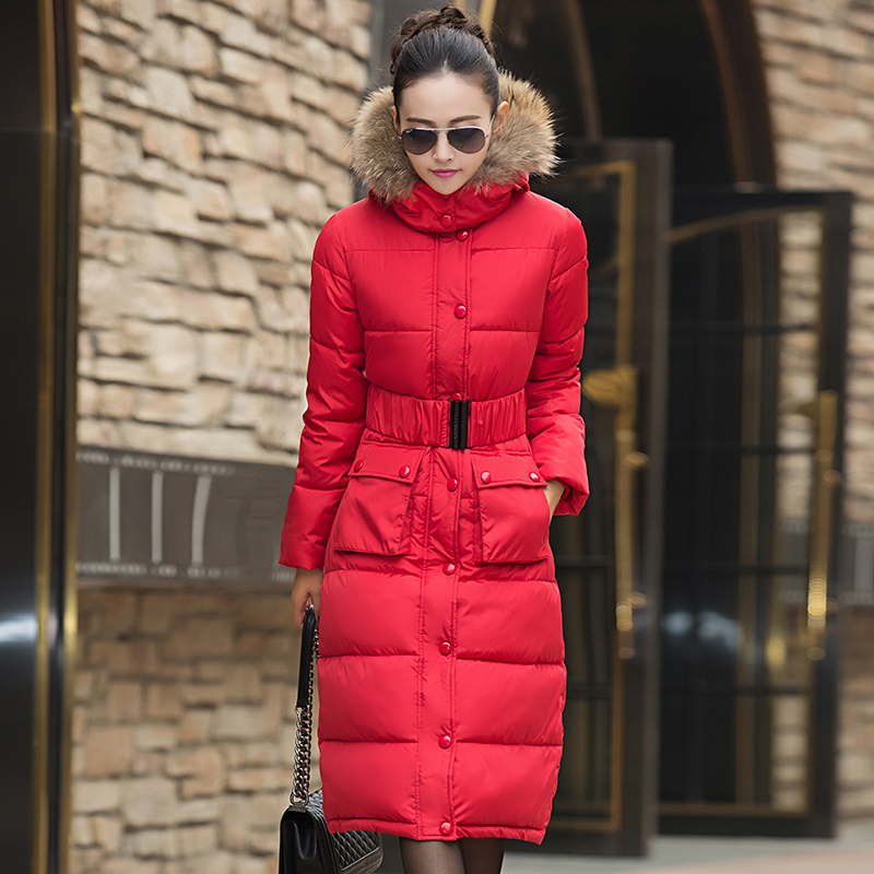 Hot Women Winter Jackets Down Knee X-Long Coat Female Outerwear Hooded Thick Padded Jacket Lady Down Parka Plus Size LQ087