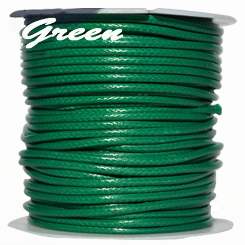 3mm Green Korea Polyester Waxed Wax Cord String Thread+DIY Jewelry Findings Accessories Bracelet Necklace Wire rope 50yards/roll(China (Mainland))
