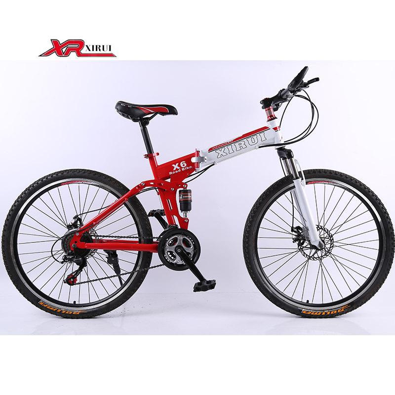 21 speed bicicleta Mountain bicycles Folding Bikes 26 inch xirui X6 road bike spring fork for men women kids TZ3050 mountainbike(China (Mainland))