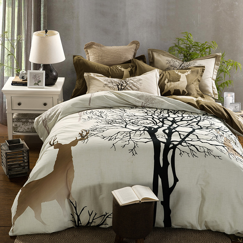 100 cotton bedding sets queen size bed linen bedclothes for Housse de couette king size