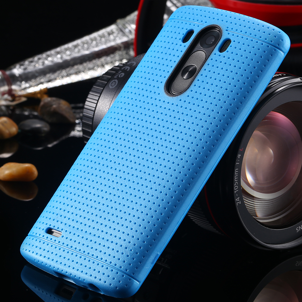 Candy Color Fashion Soft TPU Silicon Case For LG Optimus G3 D830 D850 D831 D855 Slim Honeycomb Dot Accessories Cover For LG G3(China (Mainland))