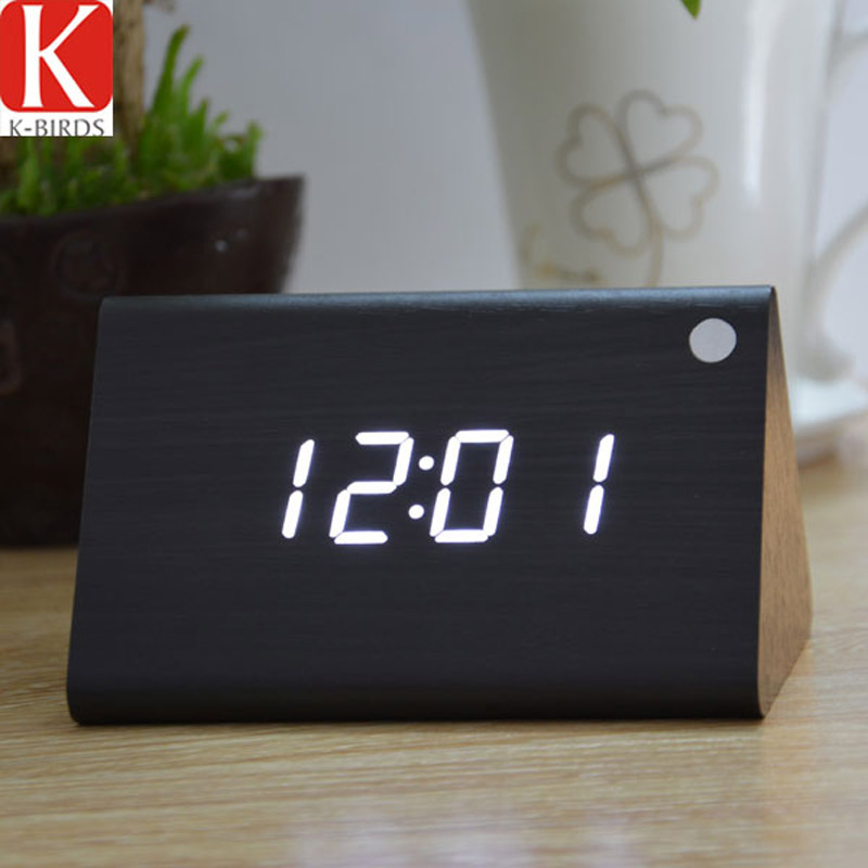 Modern Thermometer Electronic table Clock with LED Screen,stylish digital clock, Led number vintage relogio despertador(China (Mainland))