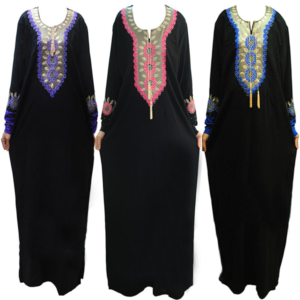 New muslim <font><b>abaya</b></font> Islamic clothing for women hijab long dress high quality turkish women clothes embroidery <font><b>abaya</b></font> dress CS2421