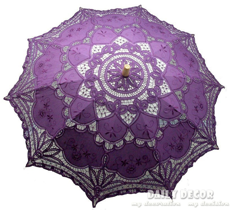 Nieuwe aankomst 100 katoen met de hand gemaakt kant parasol chinees houten vintage - Paraplu katoen ...