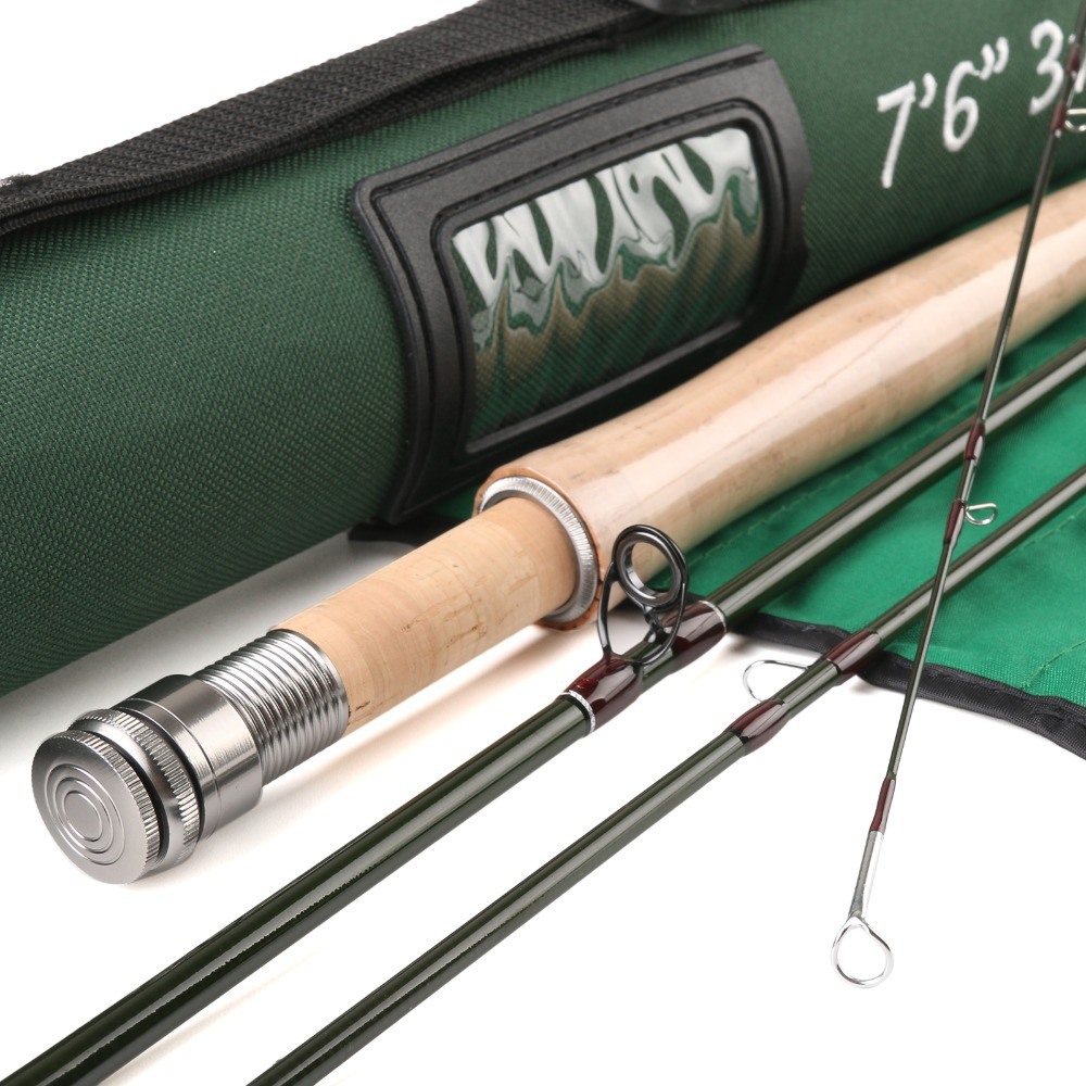 Maxcatch fly fishing rod sk carbon 7 6ft 3wt 4pcs super for Shipping tubes for fishing rods