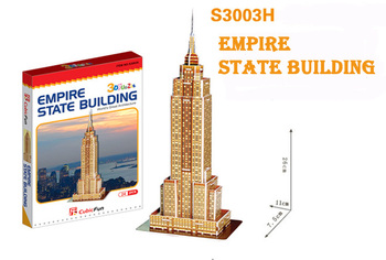 Empire State Building cubic fun S3003H 33pcs 3D Puzzle Famous buildings paper model DIY Educational toys for kids free shipping