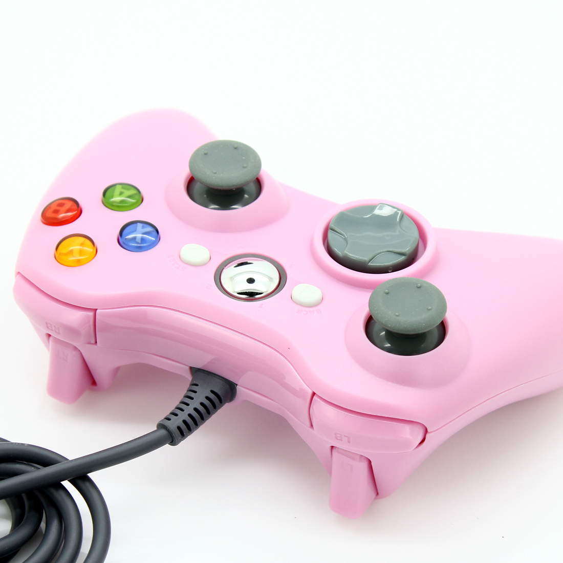 Hot USB Wired Joypad Gamepad Controller Pink For Microsoft For Xbox 360 PC XP Video Games Accessories(China (Mainland))