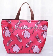 hot2014 new fashion print thickening thermal bags lunch bag large thermostat with warming bag cooler bags