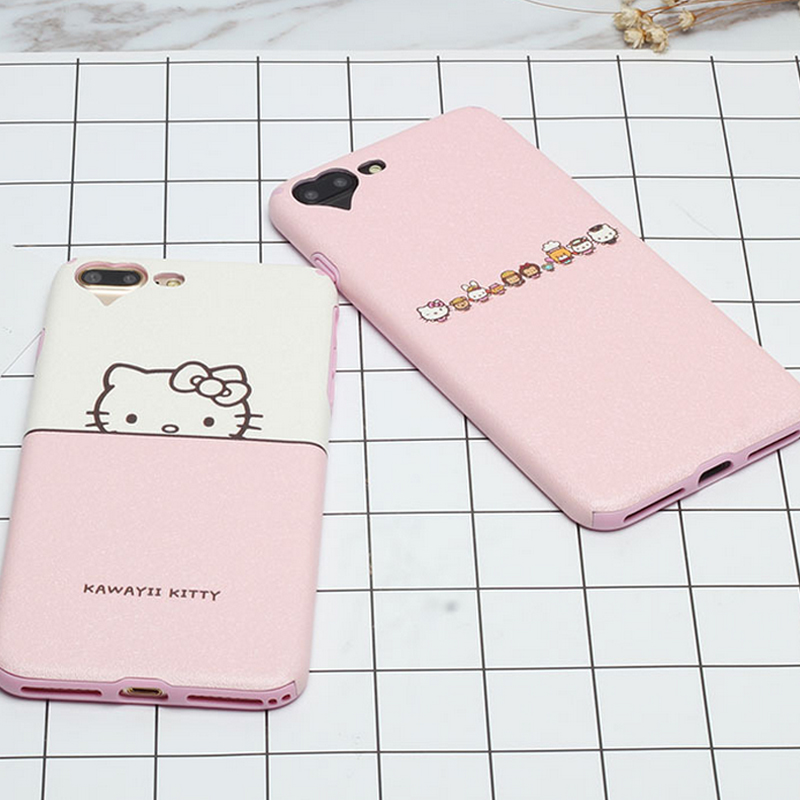2016 Ultra-thin Fashion silk Painting Cartoon hello kitty Cat For Apple iphone 7 Plus mobile phone case Bag Capa Coque Accessory(China (Mainland))