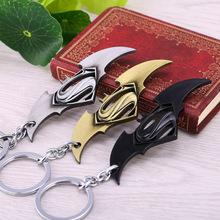 batman vs superman metal keychain small pendant cool gifts men games avengers key chain ring holder buckle anime - Yiwu Headdress store