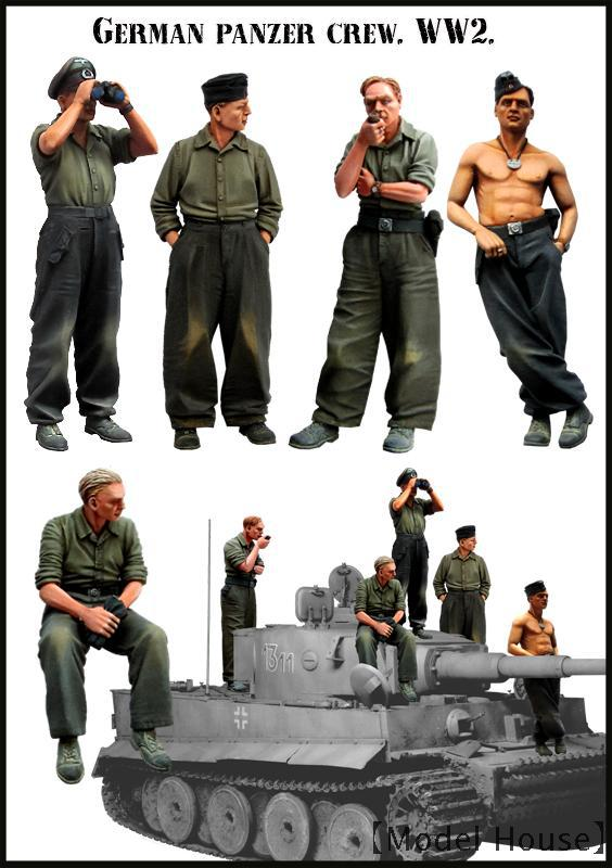Resin Model EM 1/35 GERMAN PANZER CREW.WW2 Group 5 People $ 10 Free Shipping(China (Mainland))
