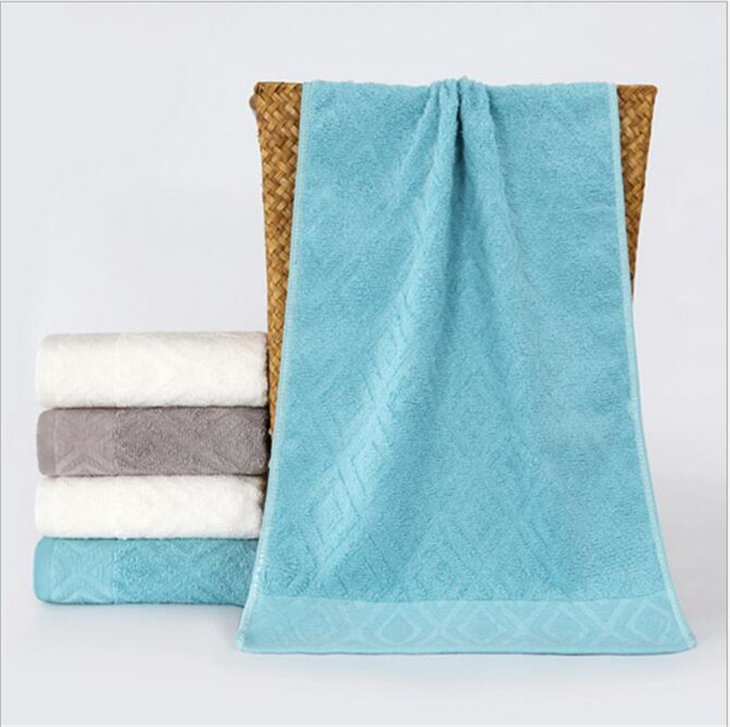 34*75cm 100% Cotton Plain Home Hotel Decorative Face Towels Egyptian Cotton Absorbent Hand Towels Solid Thick Bathroom Towels(China (Mainland))