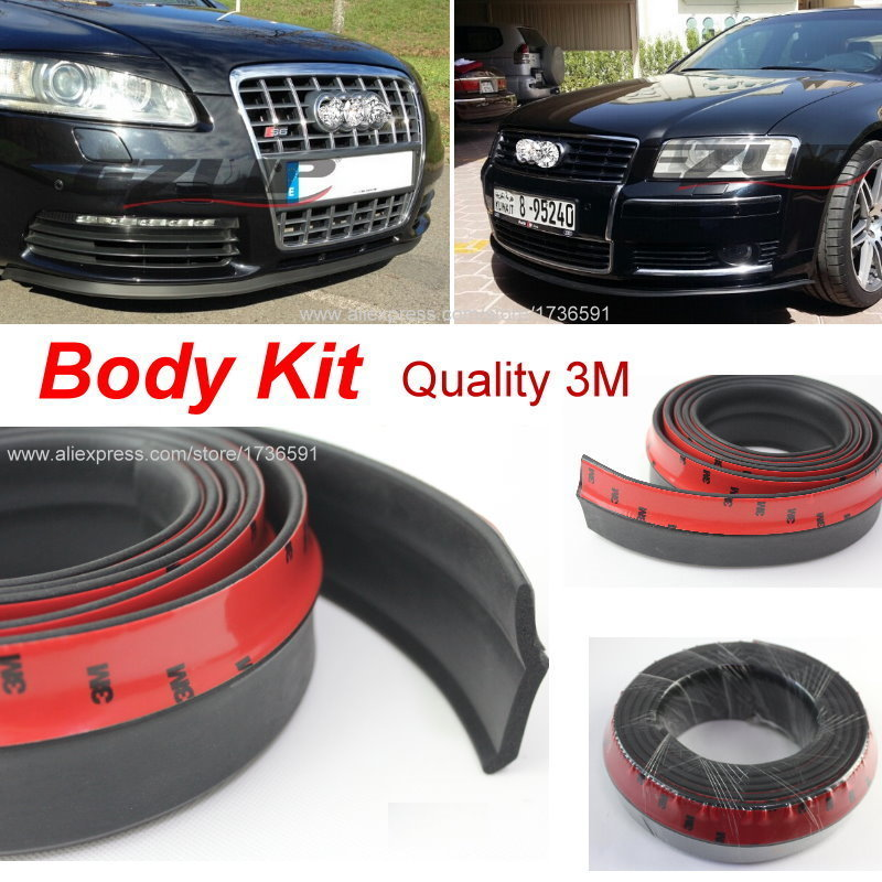Make car lower Body Kit / For Audi A5 S5 RS5 2007~2015 / Car Bumper Lip / Front / Rear Skirt Spoiler / Deflector Rubber Strip(China (Mainland))