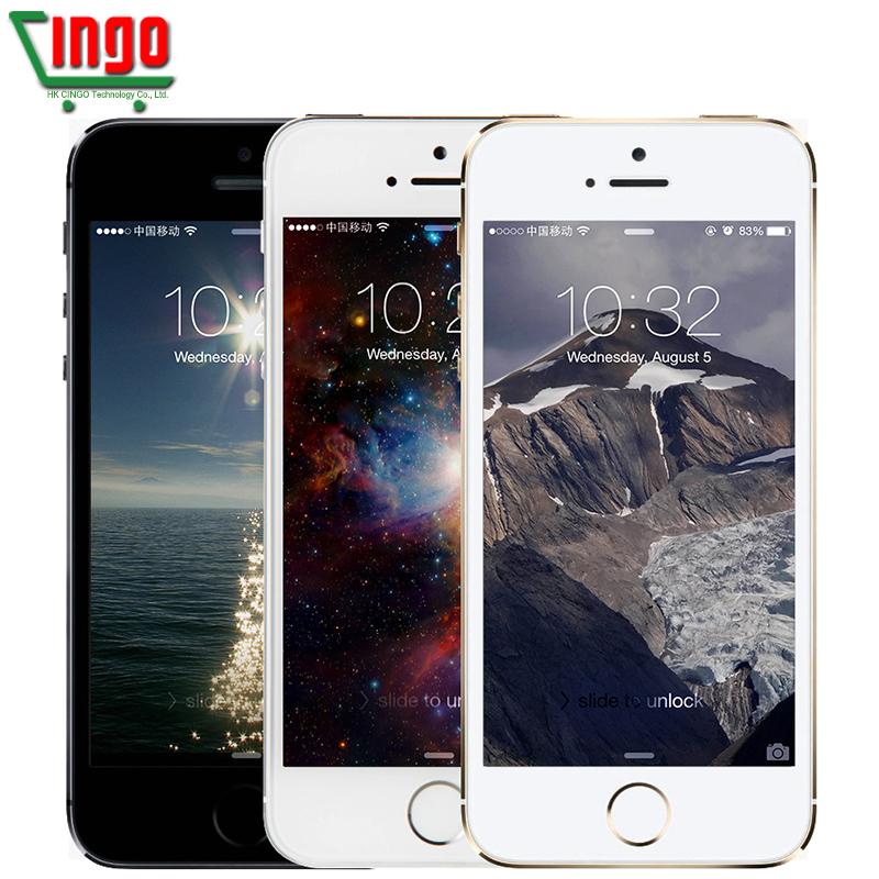 "iPhone 5s Original Factory Unlocked Apple iPhone 5s 16GB 32GB 64GB ROM 8MP iOS 9 4.0""IPS 8MP WIFI GPS SIRI WCDMA 3G Mobile Phone(China (Mainland))"