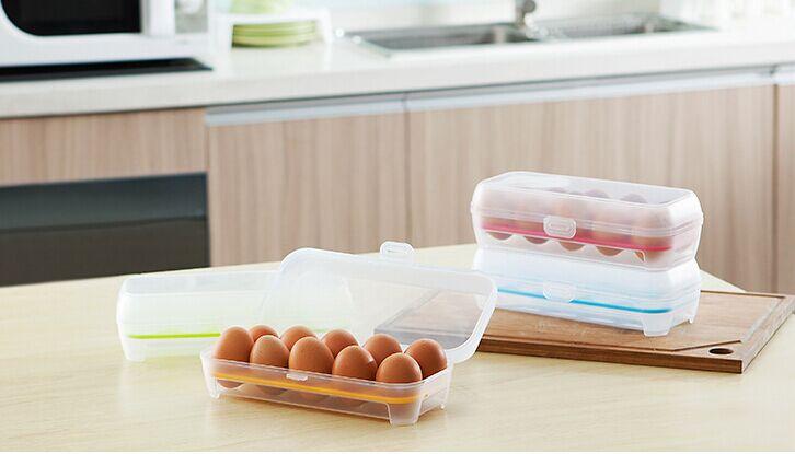 2015 multi-function kitchen organizer egg refrigerator crisper creative home storage box plastic storage box(China (Mainland))