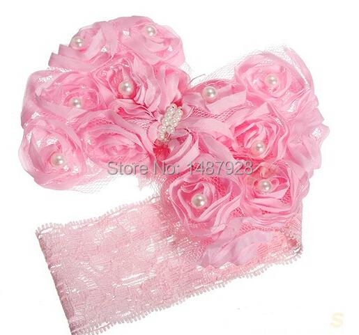 Горячая Новый стиль красивая повязка на голову Hairband девочки цветы с бантом повязки аксессуары для бантом подарок A118
