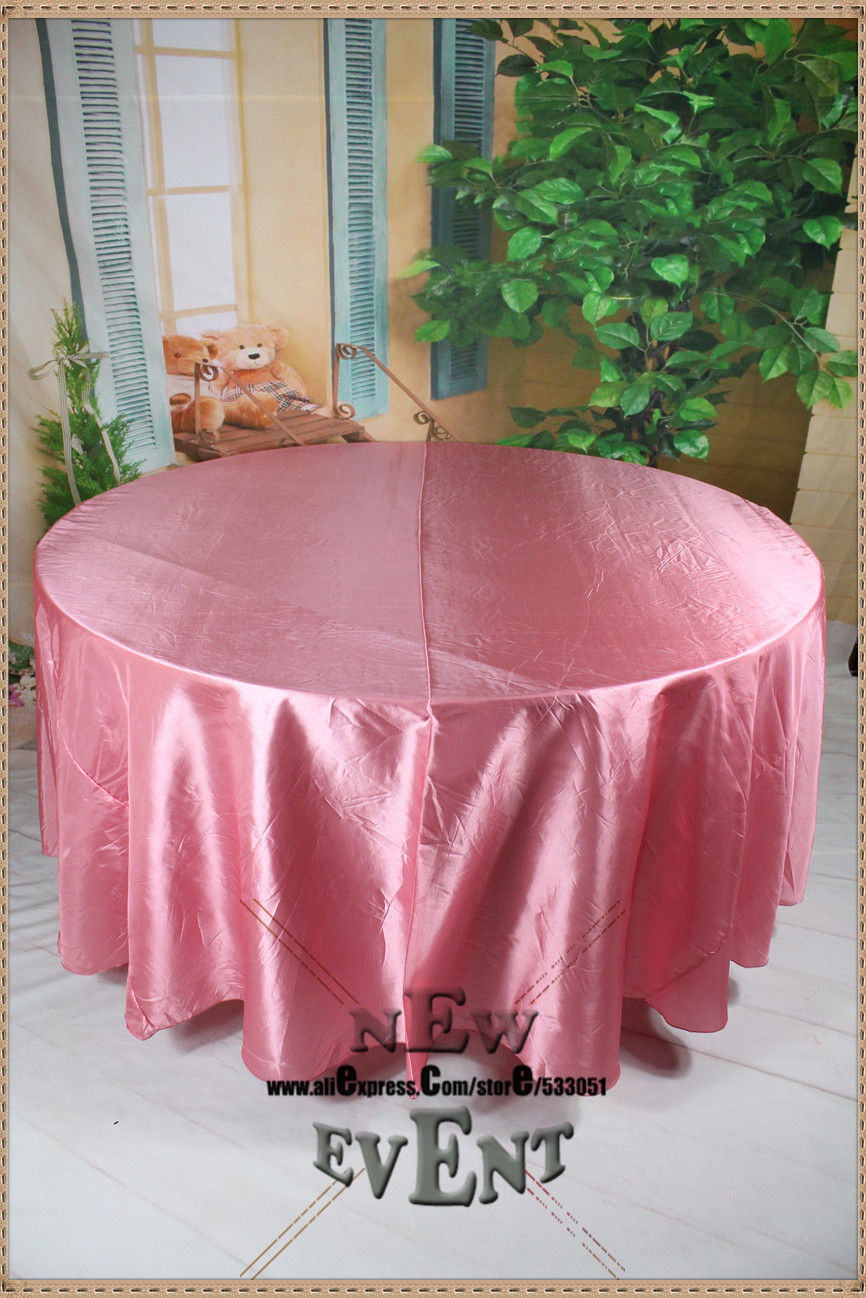 "90"" 108"" 128"" Dark Pink Taffate Tablecloth/Table Cover For Wedding Party Hotel Banquet Home Decorations/Wedding Supplies(China (Mainland))"