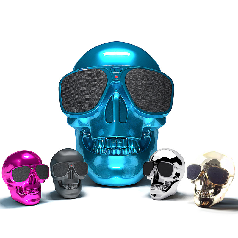 Mini Bluetooth Skull Pattern Speaker Wireless Stereo NFC Subwoofer Speakers Music Boombox Speaker For Cell Phone Tablet PC(China (Mainland))