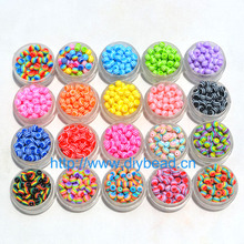 Buy 100 pcs DIY Bracelet Accessories Children Handcraft Department 18 Color 6MM Round Shape Resin Stripe Beads jewelry Findings for $1.50 in AliExpress store