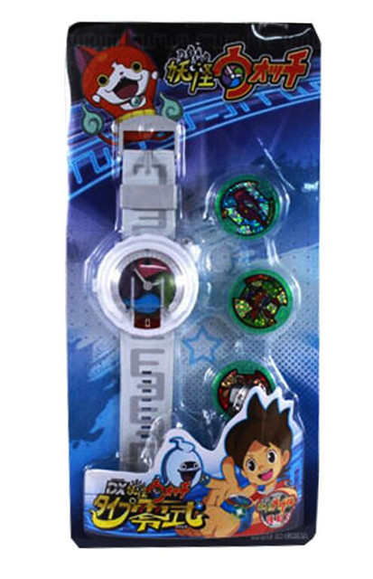 Hot DX Yokai Watch ( Yo-Kai Cartoon Electronic toy ) Insert the card sound with Led Light