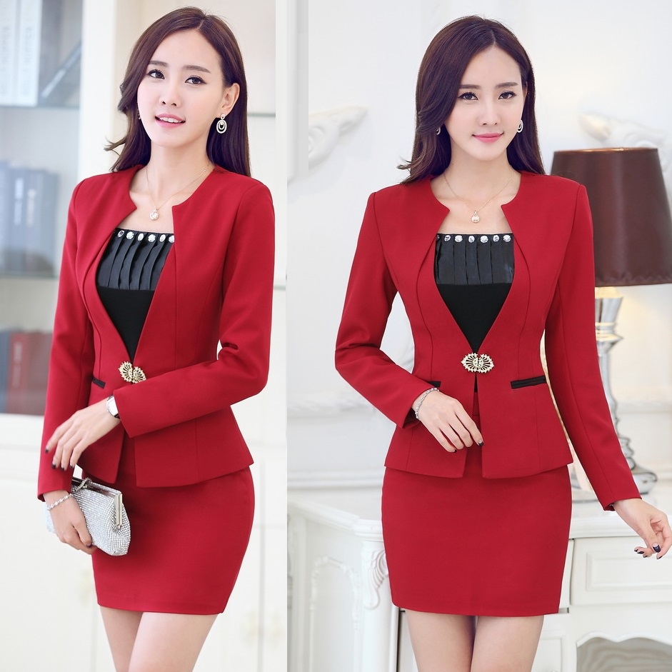 Unique 2017 2015 Career Dresses New Women Skirt Suit U0026 Skirt For Office Ladies Formal Ol Business Work ...
