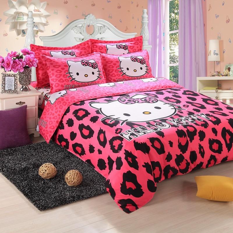 Aliexpress.com : Buy Hello Kitty BED SET,100% Cotton bedding set ...
