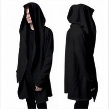 Free 2016 black cloak hoodies long winter fashion new male Streetwear hip-hop hoodie clothes men more small coat cool people