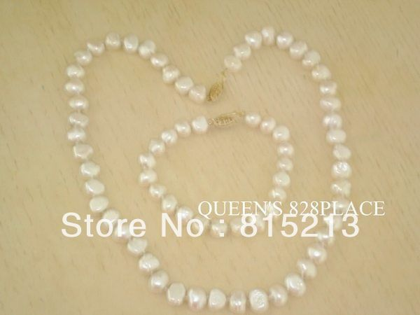 ddh00750 HONORA 14K GOLD WHITE CULTURED PEARL NECKLACE AND BRACELET SET QVC NEW NWT (B0322)(China (Mainland))