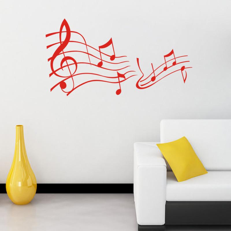 Achetez en gros musique notes papier peint en ligne des for Decoration murale note de musique